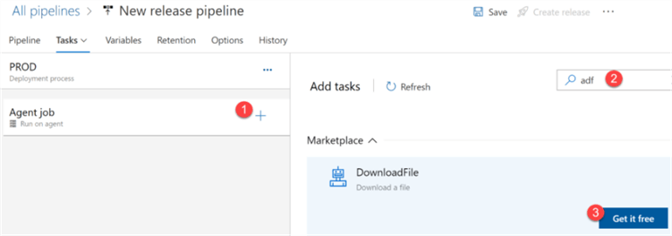 Step to find ADF Deploy task