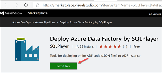 Step to get the ADF Deploy task for free.