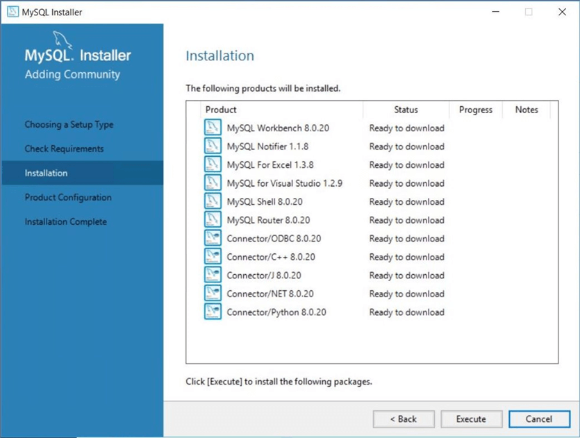 Azure Database for MySQL - Final step to install Workbench application.
