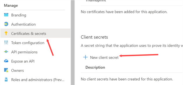 create new client secret