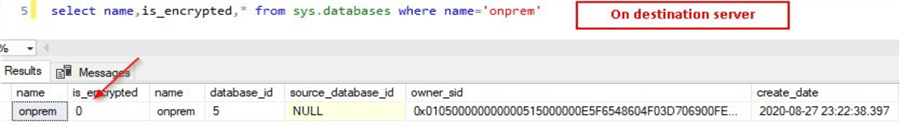 query for encryption status