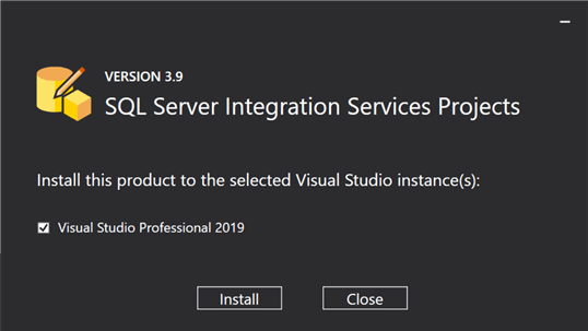 install visual studio extensions ssis