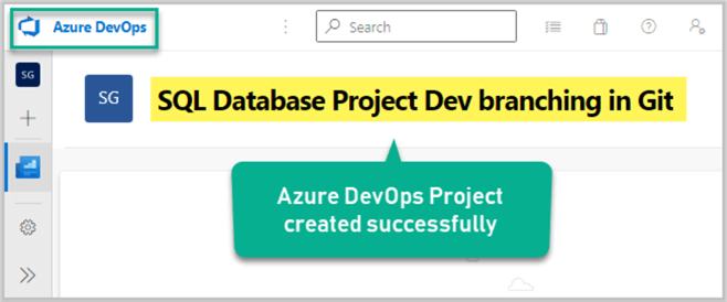 Azure DevOps Project created successfully
