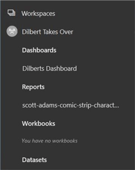 Manage Power BI Workspaces - Power BI GUI view of renamed workspace