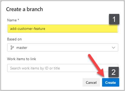 New remote branch named add-customer-feature