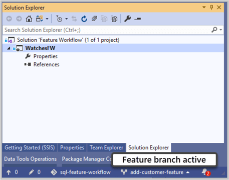 Feature branch active