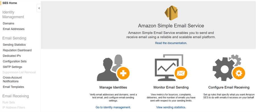 Configure Amazon Simple Email Service (SES)