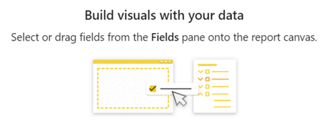 New default build visuals image on Power BI desktop page background