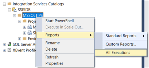ssis catalog built in reporting