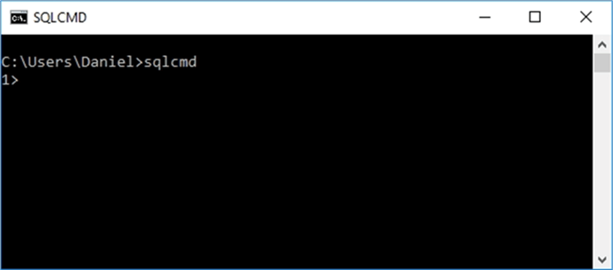 SQLCMD - Description: This is the most basic invokation of sqlcmd that allows you to connect to the default instance with your Windows login.