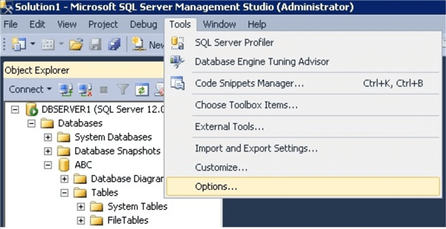 object explorer in SQL Server Management Studio