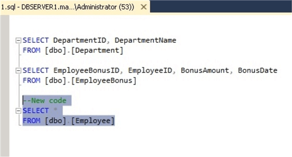 Recovered code from SSMS