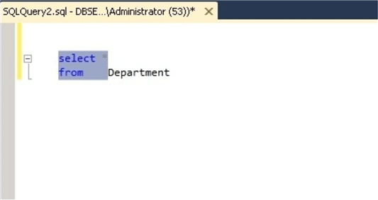 Select a Code Block in SSMS