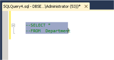 Comment and Uncomment Code in SSMS