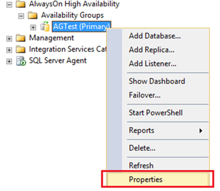 Access Backup Preferences in AG
