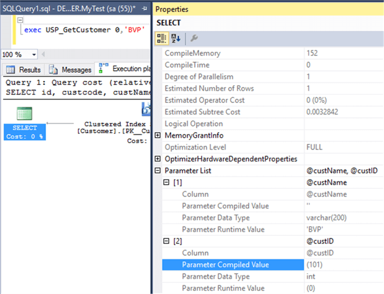 exploring the properties - Description: Based on operator use , get compiled parameter value from the propery.
