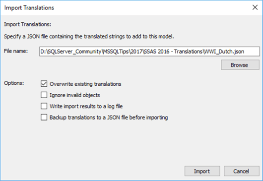 import translation file