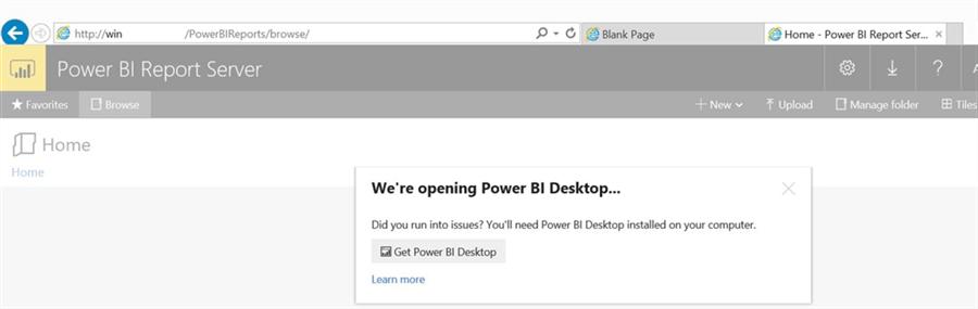 Install and configure Power BI Report Server and Power BI Desktop
