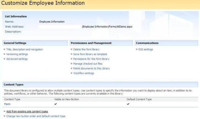 customize employee information