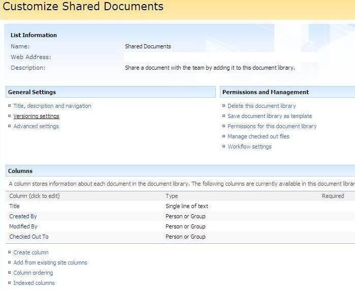 customize shared documents