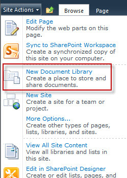 new document library