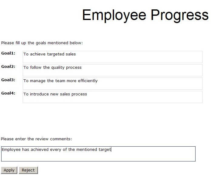 employee progress