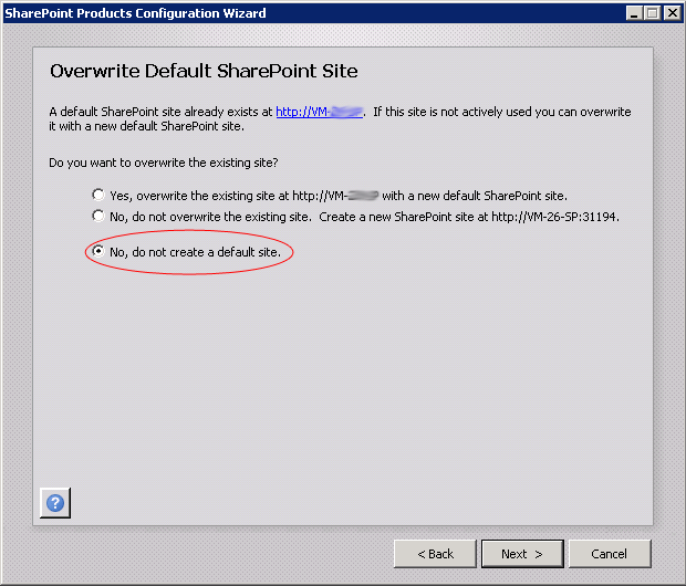 overwrite default sharepoint site