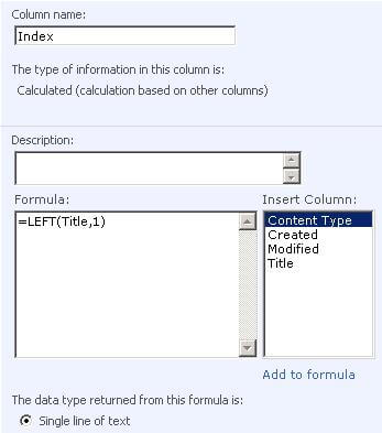 Create an Alphabetical SharePoint Menu Using jQuery