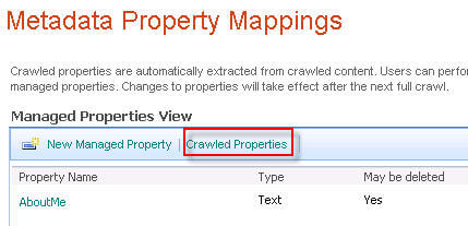crawled properties