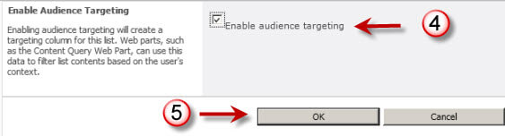 enable audience