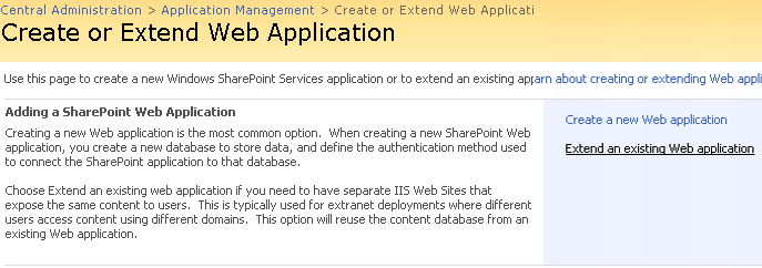 Extend Web Application