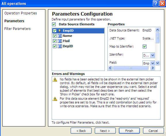 parameters configuration