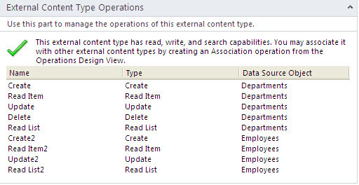 external content type operations