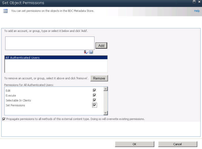 set object permissions