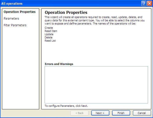 operation properties