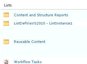 content and structure reports