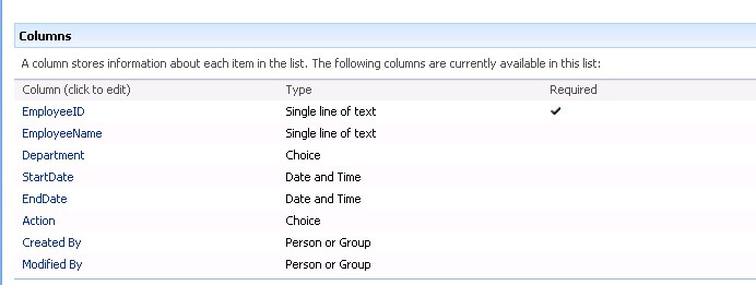 sharepoint list holidays