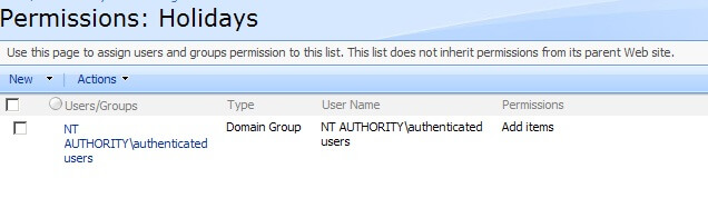 sharepoint list permissions