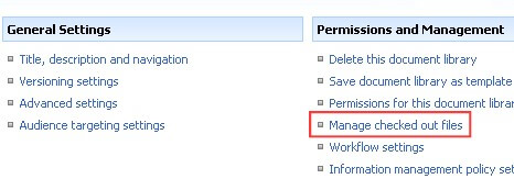 manage checked out files