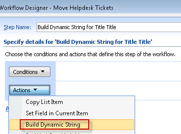 build dynamic string