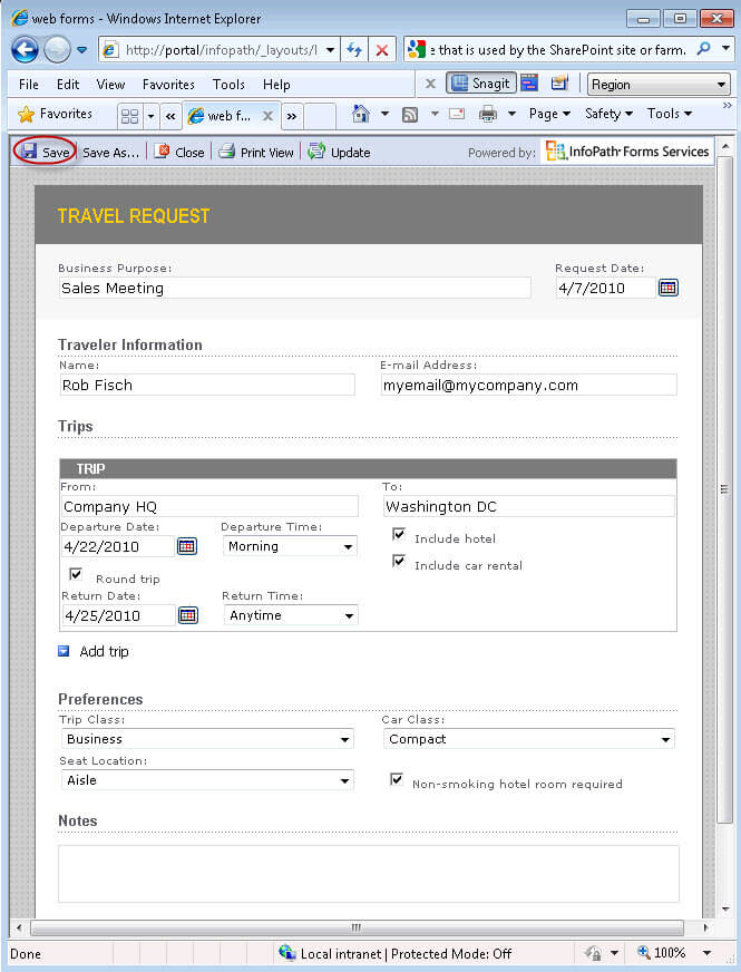 publishing infopath forms as sharepoint browser enabled forms