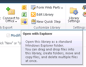 SharePoint - Open in Windows Explorer icon