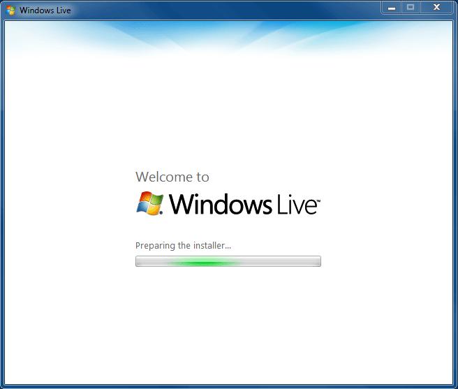 Live Writer Installer : Step 1