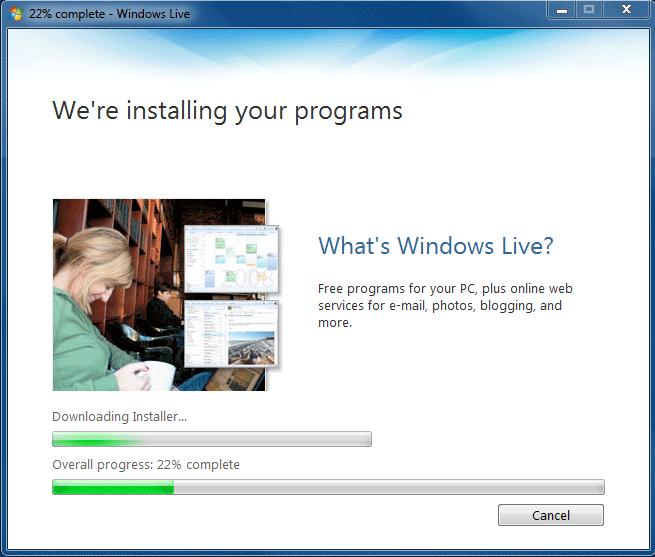 Live Writer Installer : Step 3
