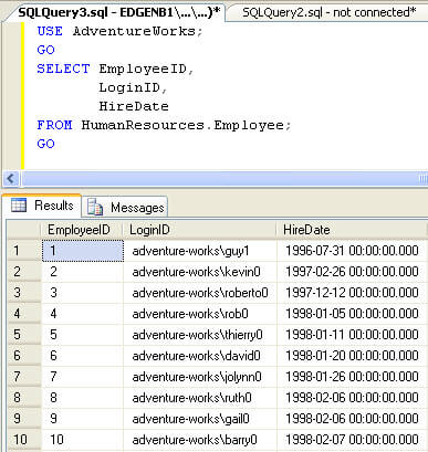 Multiple Column Select Example