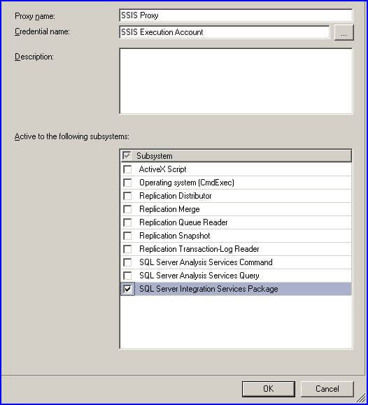 You must specify the credential and check SQL Server Integration
