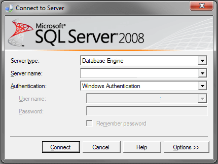 Connect Profiler to SQL Server