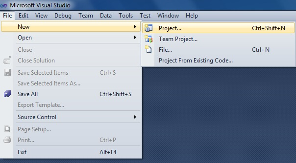 Creating A New Database Project