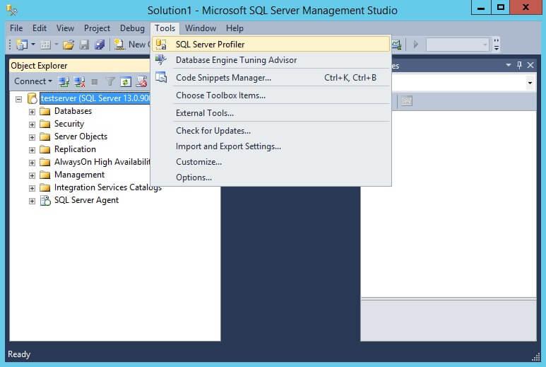 Launch SQL Profiler from SSMS