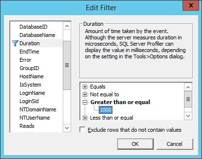 SQL Profiler - Data Column Filter
